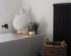 Minimalistic radiators design-black radiators