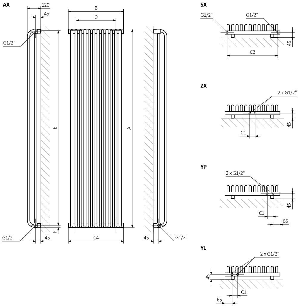 Terma Delfin Horizontal Designer Radiator