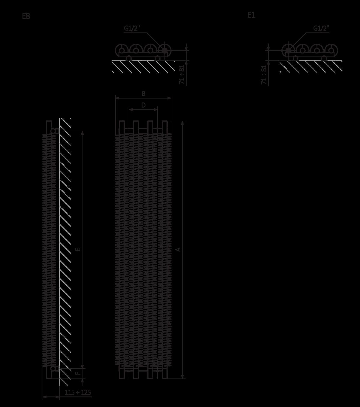 Terma Ribbon Vertical Electric Designer Radiator